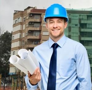 Rehabilitación fachadas Valencia - Imagen de trabajador